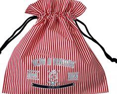 E para finalizar, um saco original para recolher os doces.