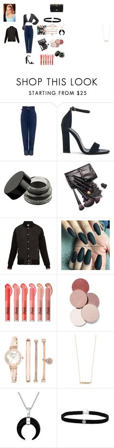 """pinkblack outfit"" by missharley-quinnzp ❤ liked on Polyvore featuring Rachel Comey, Victoria Beckham, Illamasqua, Moncler, LunatiCK Cosmetic Labs, Anne Klein, Jennifer Zeuner, Bling Jewelry and Chanel"