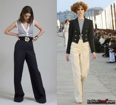 Coco Chanel Navy striped shirt and navy-style suit Dreaming time