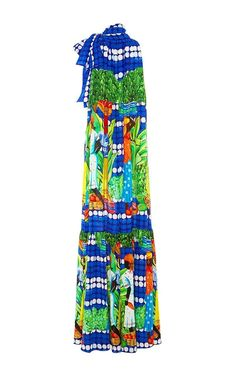 Sordone Printed Maxi Halter Dress by Stella Jean Now Available on Moda Operandi