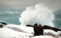 Watching the Breakers: A High Sea: 1896 by Albert Bierstadt (The Arkell Museum, Canajoharie, NY)