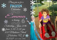 Frozen Invitation Frozen Photo Invitation by GraphicsByColton