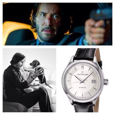 "Keanu Reeves wears a Carl F. Bucherer Manero Autodate in his role as ""John Wick"" John Wick, Cool Watches, Watches For Men, Best Watch Brands, Brown Shoe, Keanu Reeves, Fashion Watches, Classic Style, Style Watch"