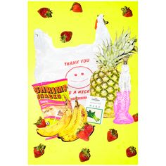 Bodega Dreams is a series of digital prints by Colleen Durkin incorporating two of our favorite themes: vibrant color and snacks!