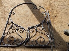 Traditionally hand-forged iron gate by Helen Nock, via Flickr -I'm trying to get inspiration for making a gate for my mother's garden...