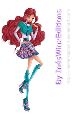Aisha School Fairy Couture - Winx Club 7 by InesWinxEditions.deviantart.com on @DeviantArt