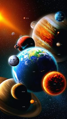 Solar System Planets - iPhone Wallpapers