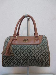 Bag Tommy Hilfiger Handbags Satchel 6929415 310 Olive Green Beige Brown Gold #TommyHilfiger #Satchel