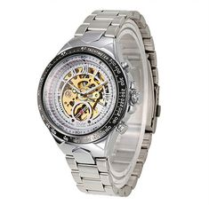 96b6ba1ac69 Sole Golden Stainless steel watchband and alloy case with safety fold over  clasp