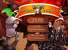 Love Playing #Arcade game : Play Bomber Knights on flashgamenation