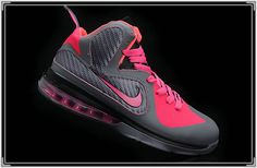 Lebron 9 Womens Carbon Grey Cherry Pink.....SICK!!!!!