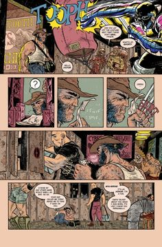 Page from Rafael Grampa's Wolverine short story in STRANGE TALES. One of the single best Wolverine stories ever. Totally. Rad. Shit.