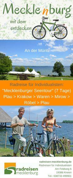 Mecklenburger Seentour #Radreise 7 Tage mit Gepäcktransport für individuell Reisende, #Reise #Deutschland Rafting, Camping In Deutschland, Canal Du Midi, Au Pair, Krakow, Travel Inspiration, Places To Go, Road Trip, Germany