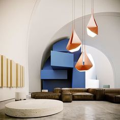 """Instagram 上的 Amazing Architecture:「 """"MONO"""" is a conceptual interior initially made as a """"support"""" space for a new """"GLOU"""" lamp design. Visualization by @maigestudio Tools… 」 Amazing Architecture, Interior Architecture, Interior Design, Contemporary Architecture, Lamp Design, Sofa Design, Living Room Designs, Living Spaces, Artistic Installation"""