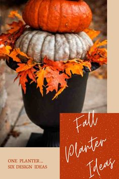 """See how the 23"""" Crescendo Urn from the TIerraVerde collection of recycled rubber planters can be designed different ways for Fall! Expert designers show how autumn abundance can offer so many creative ways to build Fall arrangements! Fall Arrangements, Fall Planters, Recycled Rubber, Porch Decorating, Urn, Timeless Design, Abundance, Harvest, Recycling"""