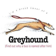 Proud owner of a greyhound!! i have a note pad with this on it :)
