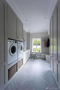 Create functional yet classy storage spaces with bootroom & laundry room storage. Create functional yet classy storage spaces with bootroom & laundry room storage furniture, our des Mudroom Laundry Room, Laundry Room Layouts, Laundry Room Remodel, Laundry Room Floors, Organized Laundry Rooms, Mud Room Lockers, Laundry Bathroom Combo, Laundry Room Cabinets, Family Bathroom