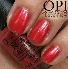 OPI Go With the Lava Flow Nail Polish Swatches
