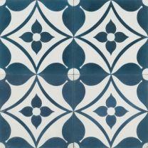 Blue Daisy Tile by Jatana Interiors - To suit any interior. Blue Daisy Reproduction Tile by Jatana Interiors. Painting Tile Floors, Painted Floors, Ceramic Painting, 3d Texture, Tiles Texture, Bathroom Floor Tiles, Kitchen Tiles, Bathroom Laundry, White Bathroom