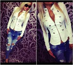 Women's Military Style Jacket - 4 Colors Available!