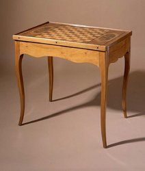 18th century walnut game table