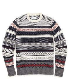 Stone Fair Isle Sweater ++ via @Bright.Bazaar /