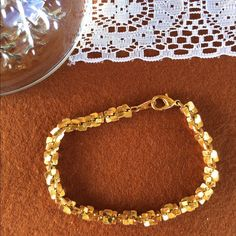 New Listing! Gold Boho Vintage Costume Bracelet Such a great basic and beautiful piece! Adds a lovely little bit of bling to any outfit. In good vintage condition, general wear from age. Has been cleaned and is ready to wear! Vintage Jewelry Bracelets