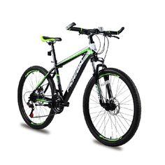 """26"""" 21 speed Green Black classic men's mountain bike cycling"""