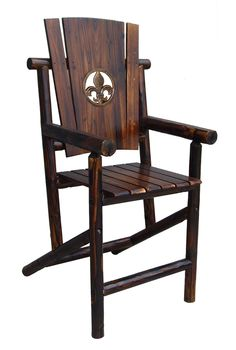 leigh country char log cut out star single rocking chair ii
