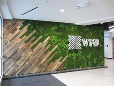 Wall Preserved Moss Installation at VML Lobby Reception Medical Office Design, Office Interior Design, Bathroom Interior Design, Corporate Interiors, Office Interiors, Ceiling Design, Wall Design, Office Reception Design, Green Wall Decor