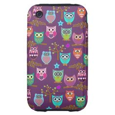 Changeable background owls tough iPhone 3 cover