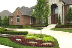 frontyard landscape ideas | garden design ideas: pictures of front yard landscaping ideas