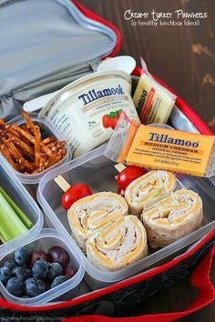 Back to School Lunch Ideas - Creamy Turkey Pinwheels - Quick Snacks Lunches and Homemade Lunchables - Bento Box Style Lunch for People in A Hurry - Fast Lunch Recipes to Pack Ahead - Healthy Ideas for Kids Teens and Adults diyjoycom click now for more. Lunch Snacks, Clean Eating Snacks, Bag Lunches, Lunch Kids, Adult Lunch Box, Snacks Kids, Healthy Eating, Healthy Cooking, Healthy School Lunches