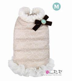 Doudoune Lace Pretty Pet Beige https://www.cupofdog.fr/vetement-chihuahua-manteau-petit-chien-xsl-246.html