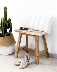 Boho Decor, Bamboo, Stool, Entryway, Woodworking, Living Room, Interior, Bedroom Inspiration, House