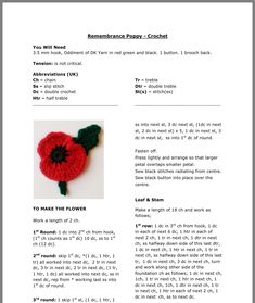Easy Crochet Hat Free Pattern - Make This Beanie in 1 Hour! Knitted Poppy Free Pattern, Knitted Flowers Free, Knitted Poppies, Knitted Flower Pattern, Crochet Flowers, Easy Crochet Hat, Crochet Crafts, Knit Crochet, Christmas Knitting Patterns