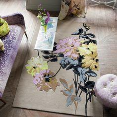 Floral area rug.