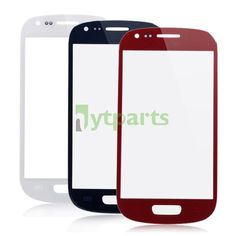Front Outer Screen Glass Lens Replacement for Samsung Galaxy S3 Mini  Colors: White, Red, Blue