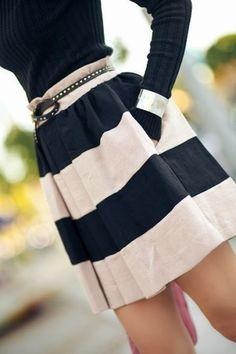 Lovely panel skirt fashion style