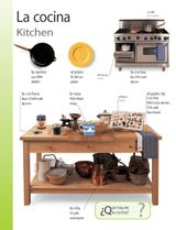 Kitchen (La cocina) themed vocabulary -- Introduce Spanish words for kitchen items with these vocabulary printables.    Get the printable from TeacherVision: http://www.teachervision.fen.com/spanish-language/printable/70407.html