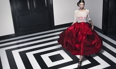 Love, love, love this from Oscar de la Renta. Reminds me of what I wore to my rehearsal dinner for my wedding.