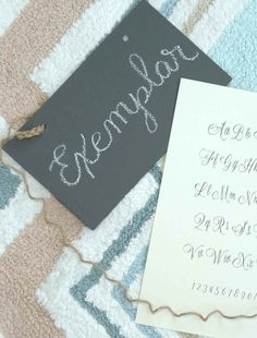 For those just starting calligraphy and a little more advanced, this exemplar shows the stroke-by-stroke way to create this script with pointed pen calligraphy! Great for wedding invitations, place cards, holidays, and other event addressing!