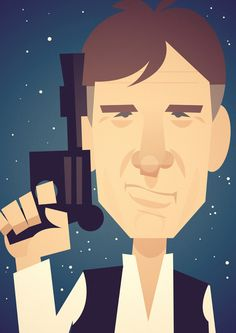 This is what I would have done for Han Solo if they asked me to do the Star Wars teaser campaign… Star Wars Love, Star Wars Fan Art, Star Trek, Character Illustration, Illustration Art, Illustrations, Stanley Chow, Polygon Art, Celebrity Caricatures