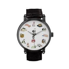 其のまま地口猫飼好五十三疋, 国芳 Cats, Kuniyoshi, Ukiyo-e Wristwatches