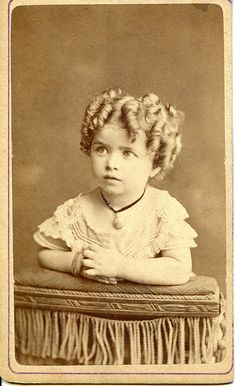 +~+~ Antique Photograph ~+~+  Sweet pixie girl with oodles of curls.