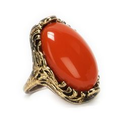 Ballet Jewels Juniors Large Oval Stone Ring #VonMaur #GoldandCoral