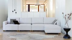 Home :: Furniture :: Lounges :: Modular Lounges :: Sophie 4 Piece Fabric Modular and Ottoman