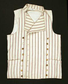 Waistcoat (at the Metropolitan Museum of Art) 1785–95, British Medium: cotton Dimensions: Length at CB: 24 3/8 in. (61.9 cm) Purchase, Irene Lewisohn Bequest, 1988 Accession Number: 1988.242.1