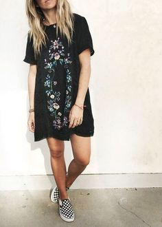 Cute floral embroidered dress.
