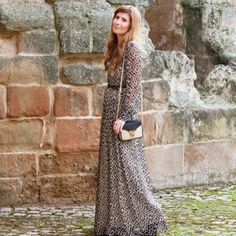 The blogger from A Trendy Life wearing Hoss Intropia AW13 dress Bohemian, Womens Fashion, Skirts, How To Wear, Life, Clothes, Dresses, Style, Vestidos